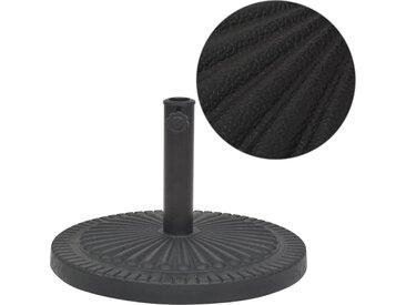 Socle de parasol Résine Rond Noir 14 kg - vidaXL