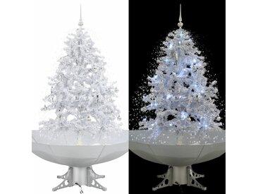 Arbre de Noël neigeux avec base de parapluie Blanc 140 cm - vidaXL