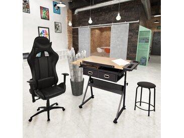 Table à dessin à dessus inclinable avec chaise de jeux - vidaXL