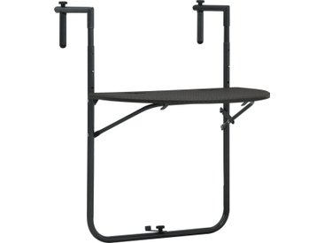 Table de balcon Marron 60x64x83,5 cm Plastique Aspect de rotin - vidaXL