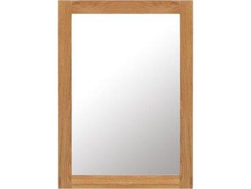 Miroir 50 x 70 cm Bois de chêne massif - vidaXL
