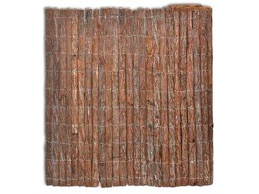 Clôture en écorce 400 x 100 cm - vidaXL