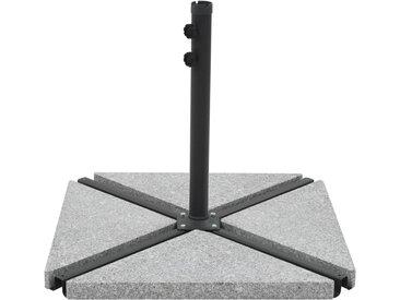 Socle de parasol avec plaques de poids Gris et noir - vidaXL