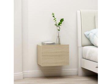 Table de chevet chêne sonoma 40 x 30 x 30 cm Aggloméré - vidaXL