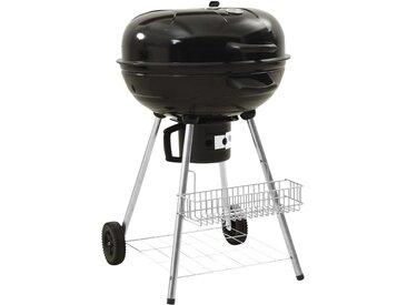Barbecue au charbon de bois à bouilloire 73x58x96 cm Acier - vidaXL