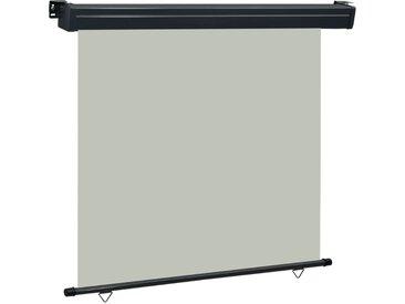 Auvent latéral de balcon 160x250 cm Gris - vidaXL