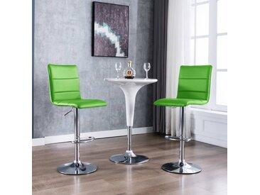 Chaises de bar 2 pcs Vert Similicuir - vidaXL