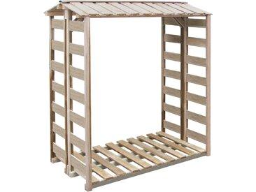 Abri de stockage à bois de chauffage 150x100x176cm Pin imprégné - vidaXL