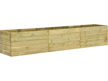 Lit surélevé de jardin 300x50x54 cm Bois de pin imprégné  - vidaXL