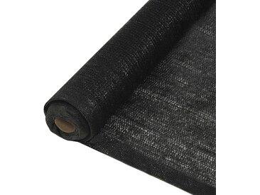 Filet brise-vue PEHD 1,5 x 25 m Noir - vidaXL
