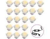 Lampes de sol à LED 20 pcs Blanc chaud  - vidaXL