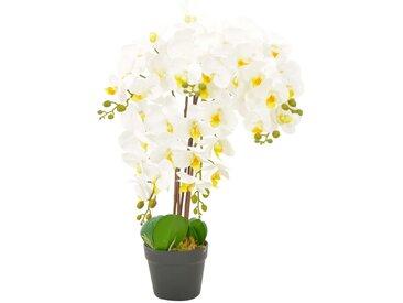 Plante artificielle avec pot Orchidée Blanc 60 cm - vidaXL