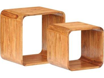Tables d'appoint 2 pcs Bois d'acacia solide - vidaXL