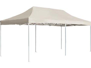 Tente de réception pliable Aluminium 6 x 3 m Crème - vidaXL