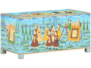 Boîte de rangement peinte à la main 80x40x40cm Bois de manguier - vidaXL