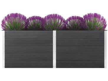 Jardinière 250 x 100 x 91 cm WPC Gris - vidaXL