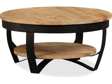 Table basse Bois massif de manguier 65 x 32 cm - vidaXL
