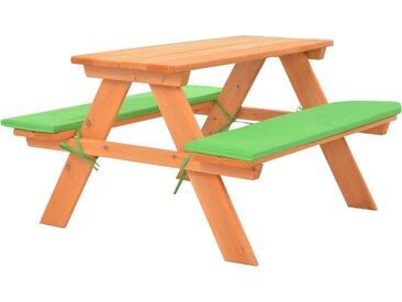 Table de pique-nique pour enfants avec bancs 89x79x50 cm Sapin - vidaXL