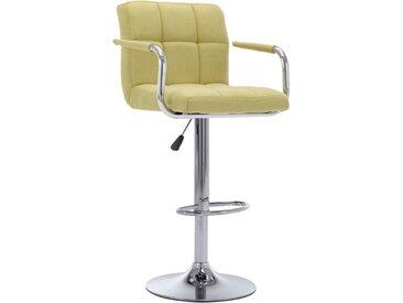 Chaise de bar Vert Tissu - vidaXL