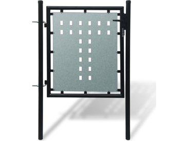 Portillon de jardin Single Noir 100 x 125 cm  - vidaXL