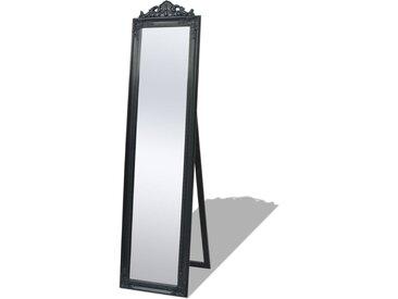 Miroir sur pied Style baroque 160 x 40 cm Noir - vidaXL
