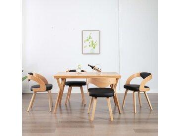 Chaises de salle à manger 4 pcs Noir Bois courbé et similicuir - vidaXL