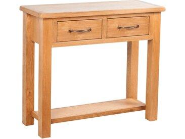 Table console avec 2 tiroirs 83x30x73 cm Bois de chêne massif - vidaXL