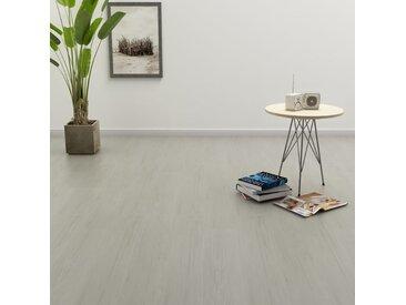 Plancher à enclenchement 3,51 m² 4 mm PVC Gris clair - vidaXL