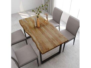 Table de salle à manger 160x80x76 cm Bois d'acacia solide - vidaXL