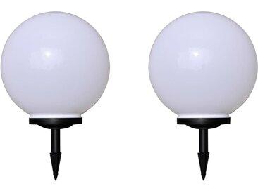 2 pcs Lampes d'allée d'extérieur à LED 40 cm et piquet au sol - vidaXL