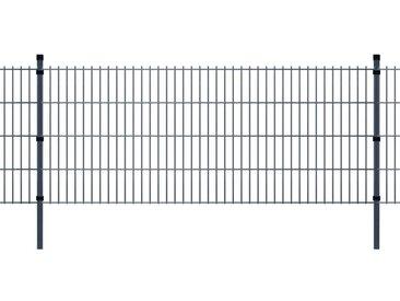 Panneaux et poteaux de clôture 2D pour jardin 2008x1430 mm 6 m - vidaXL