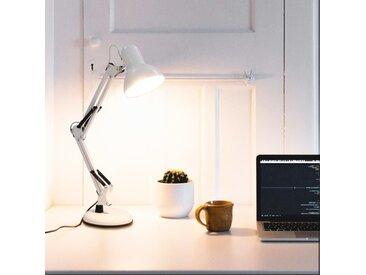 Lampe de bureau à bras réglable Blanc E27 - vidaXL
