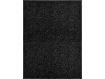 Paillasson lavable Noir 90x120 cm - vidaXL