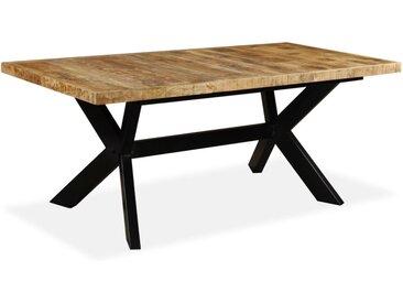 Table de salle à manger Bois de manguier solide et Acier 180 cm - vidaXL