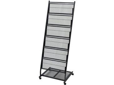 Porte-revues 47,5 x 43 x 133 cm Noir A4 - vidaXL