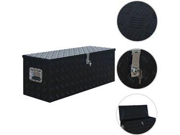Boîte en aluminium 1085x370x400 mm Noir - vidaXL