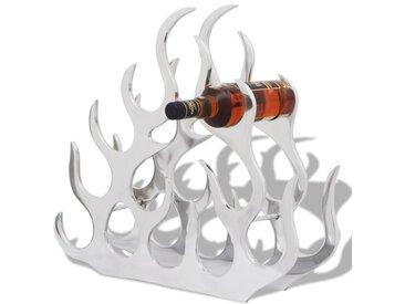 Casier à bouteilles pour 11 bouteilles Argenté Aluminium  - vidaXL