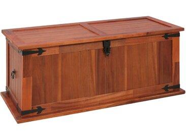 Coffre de rangement 90x45x40 cm Bois d'acacia solide - vidaXL