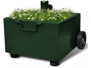 Pot de plantes et support de parasol d'extérieur 2-en-1 Vert - vidaXL