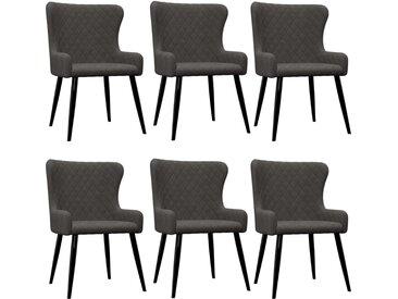 Chaises de salle à manger 6 pcs Gris Velours  - vidaXL