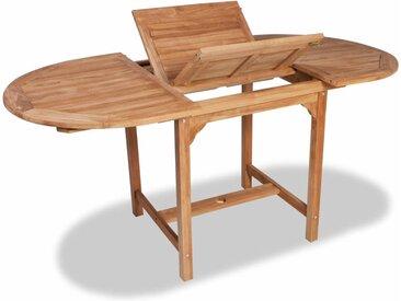 Table extensible de jardin (110-160)x80x75 cm Teck solide - vidaXL