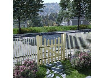 Portail de jardin Pin imprégné FSC 100 x 120 cm - vidaXL