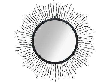 Miroir mural Éclat de soleil 80 cm Noir - vidaXL