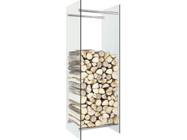 Portant de bois de chauffage Transparent 40x35x120 cm Verre - vidaXL
