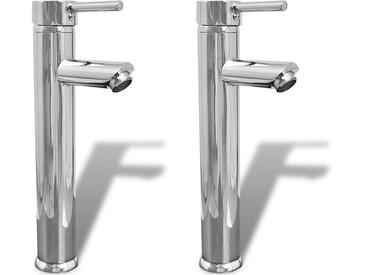 Mitigeurs de salle de bain 2 pcs Chrome - vidaXL
