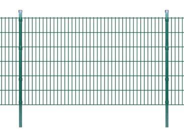 Panneaux et poteaux de clôture 2D pour jardin 2008x1230 mm 16 m - vidaXL