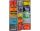 Cloison de séparation Multicolore 45x17x167 cm Fer - vidaXL