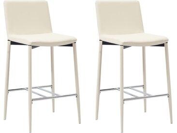 Chaises de bar 2 pcs Crème Similicuir - vidaXL