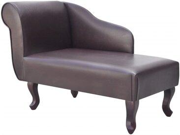 Chaise longue Marron Similicuir - vidaXL