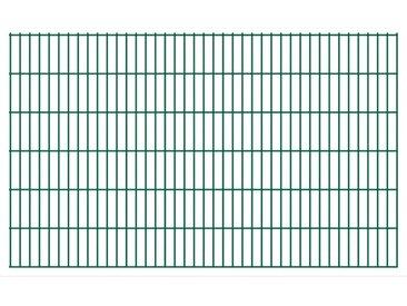 Panneaux de clôture de jardin 2D 2,008x1,23 m 20 m total Vert - vidaXL